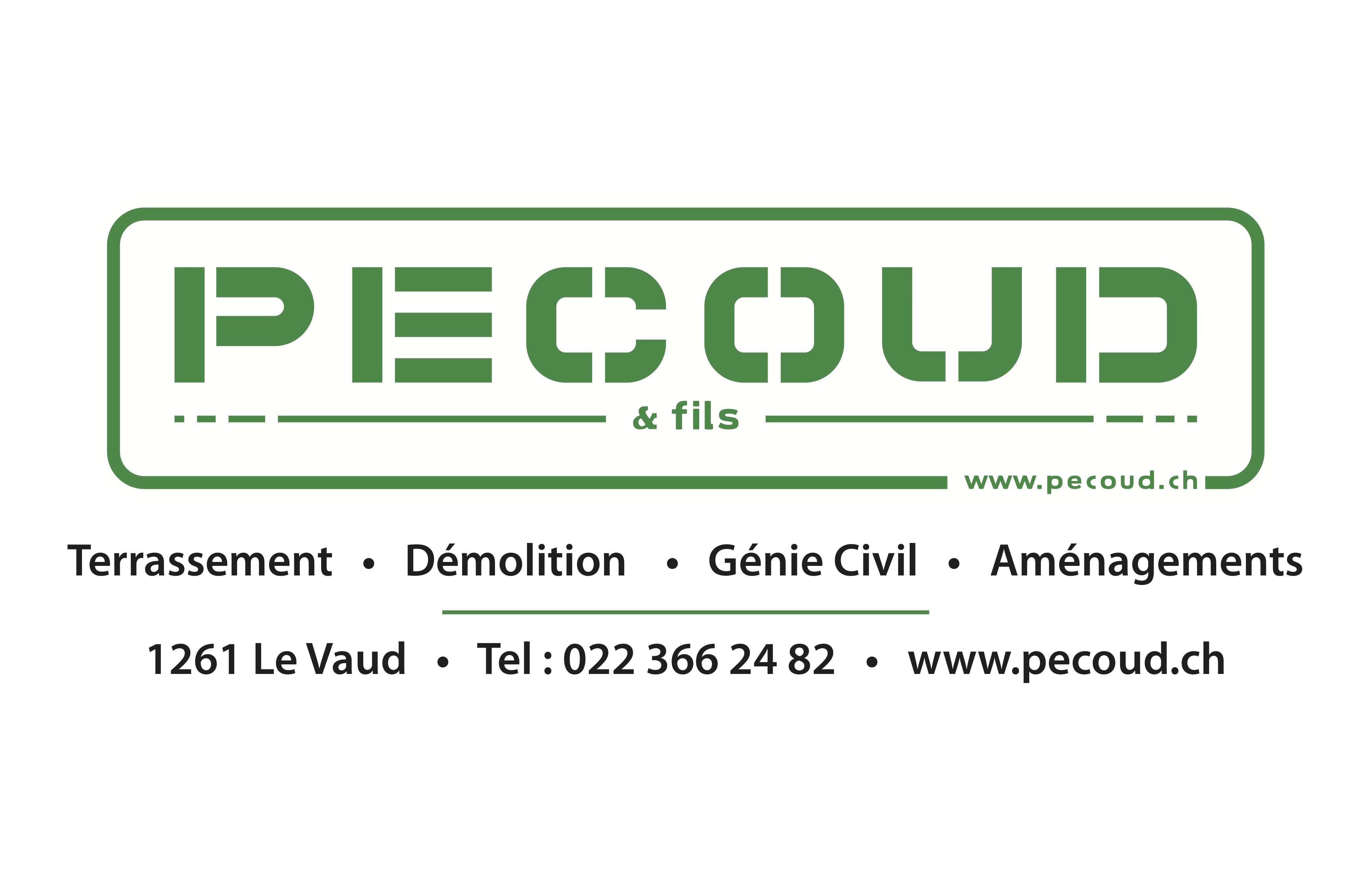Pécoud & fils Logo adresse